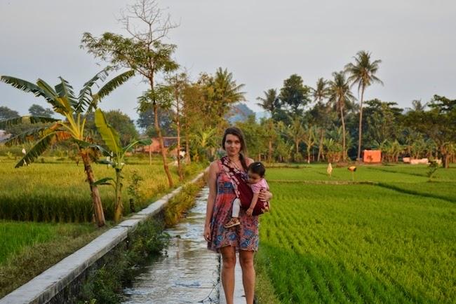Matka Nomadka z córką.
