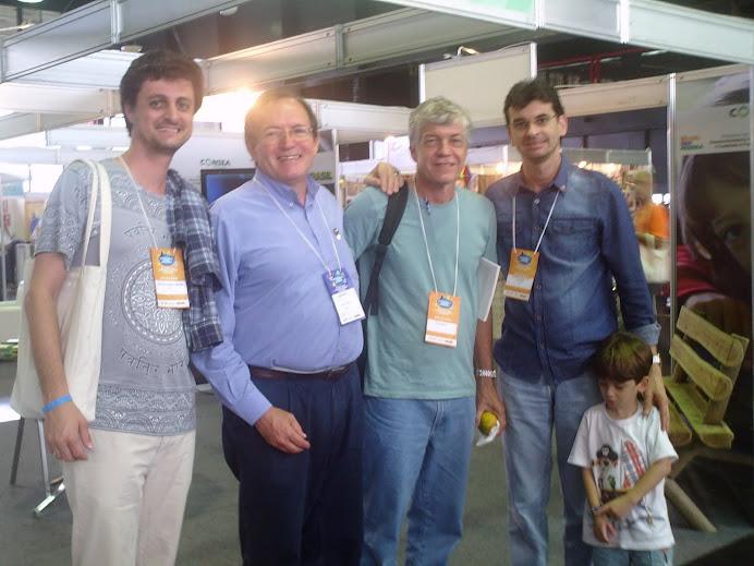 Marcelo, Flávio Valente, Francisco Menezes, Alcemi e Lorenzo