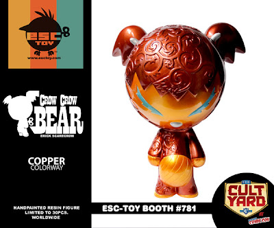 ESC Toy New York Comic-Con 2011 Exclusive Crow Crow Bear Copper Resin Figure by Erick Scarecrow