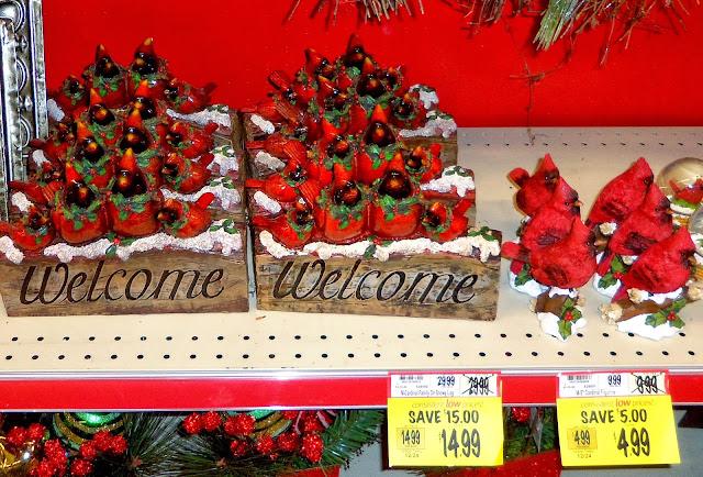 More Cardinals. & A DEBBIE-DABBLE CHRISTMAS: Christmas in the Stores: Wegmanu0027s u0026 Kohlu0027s