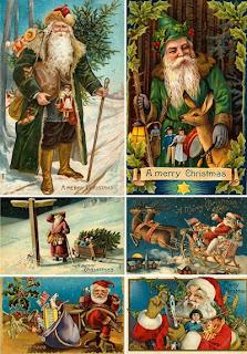 Старинные открытки с Санта Клаусом