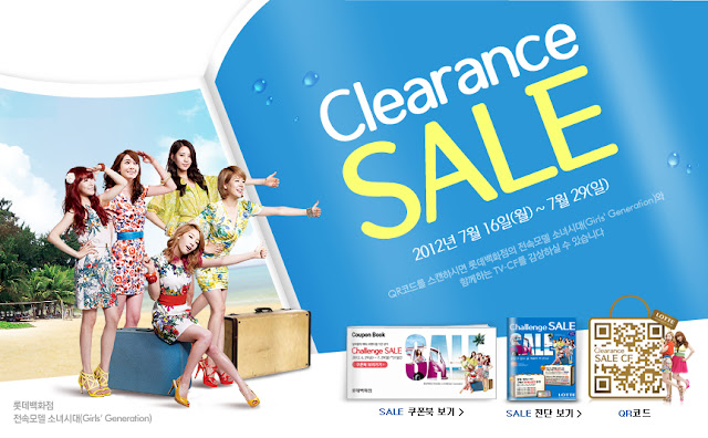 "Picture of SNSD for ""LOTTE"" Department Store"