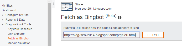 Cara Fetch As Bingbot Url Di Bing Webmaster