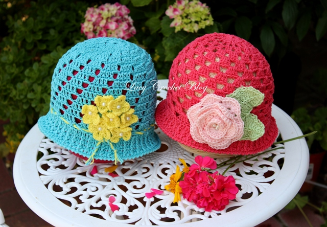 Lacy Crochet Toddler Cloche Summer Hat