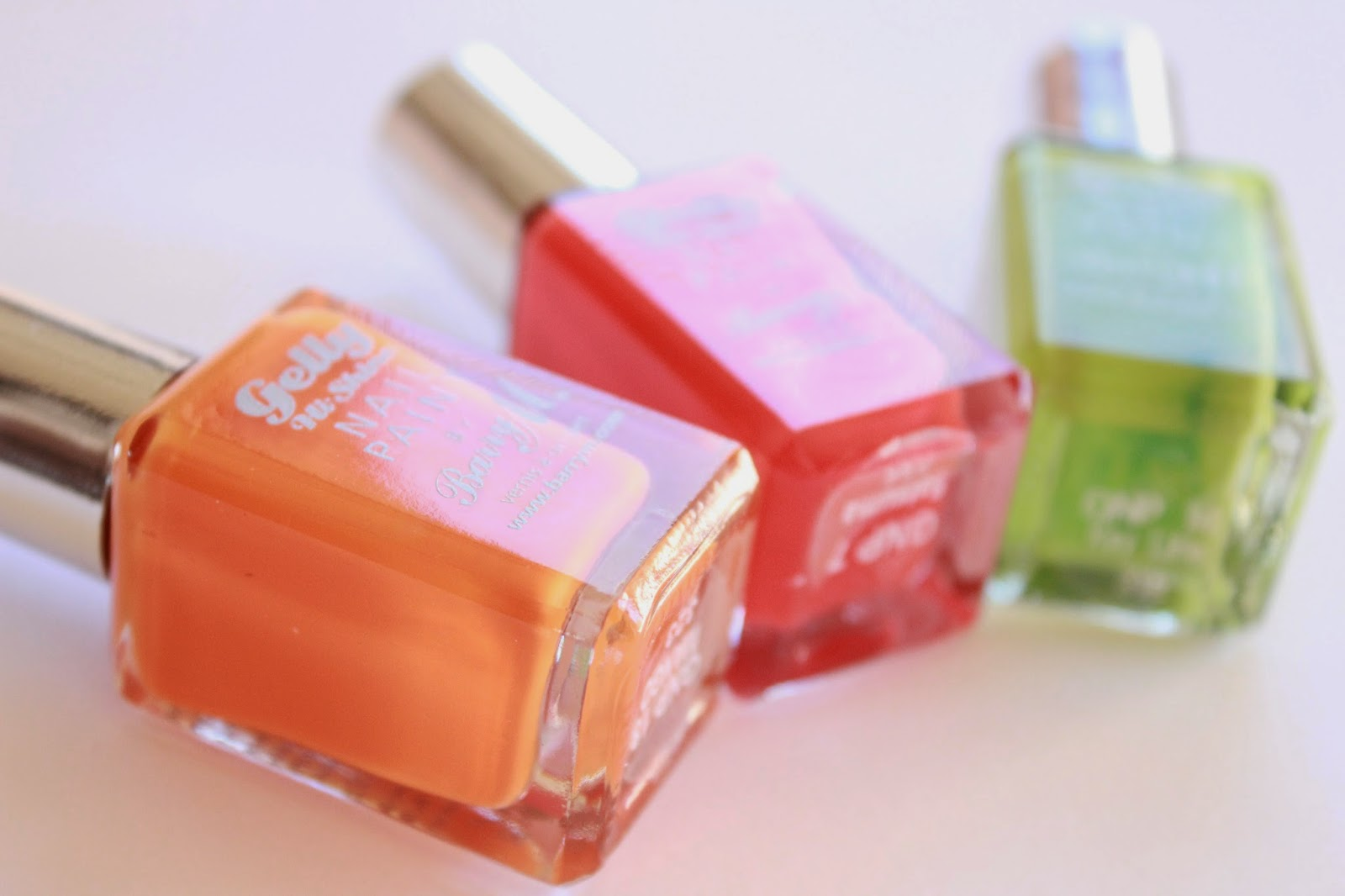 review ervaring swatches barry m hi-shine nail paint mango satsuma key lime