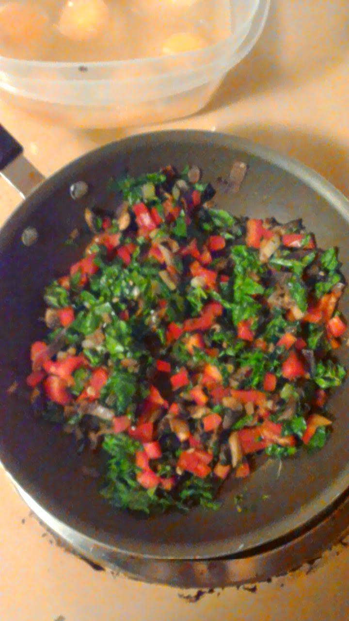 Chopped and Sauteed vegetables