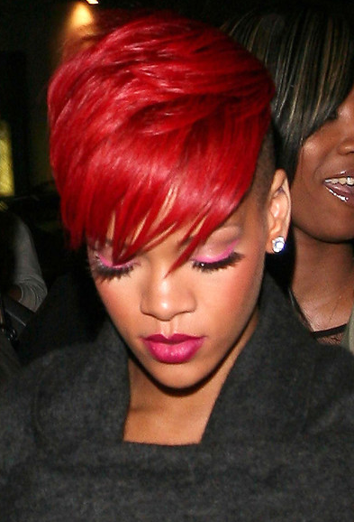 rihanna red hair color