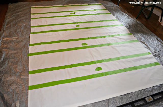 creating striped curtains