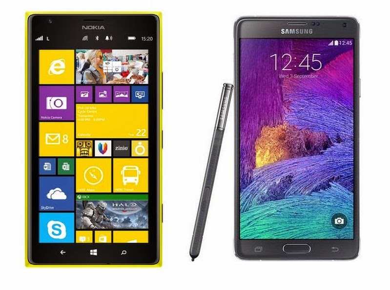 Nokia Lumia 1520 vs. Samsung Galaxy Note 4