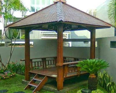 Desain Gazebo Taman Depan Rumah
