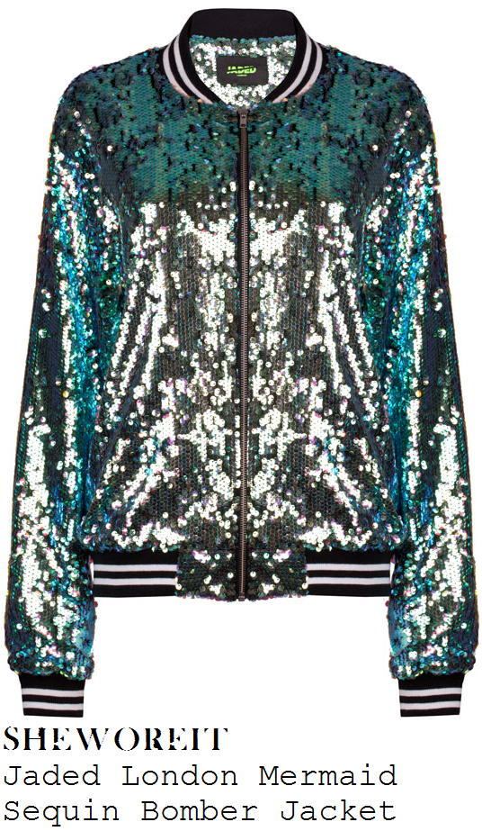 taylor-swift-green-sequin-bomber-jacket-summertime