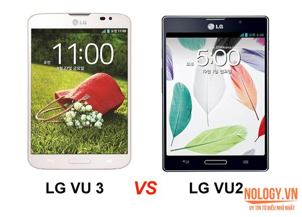 LG Vu3 và LG Optimus Vu2.