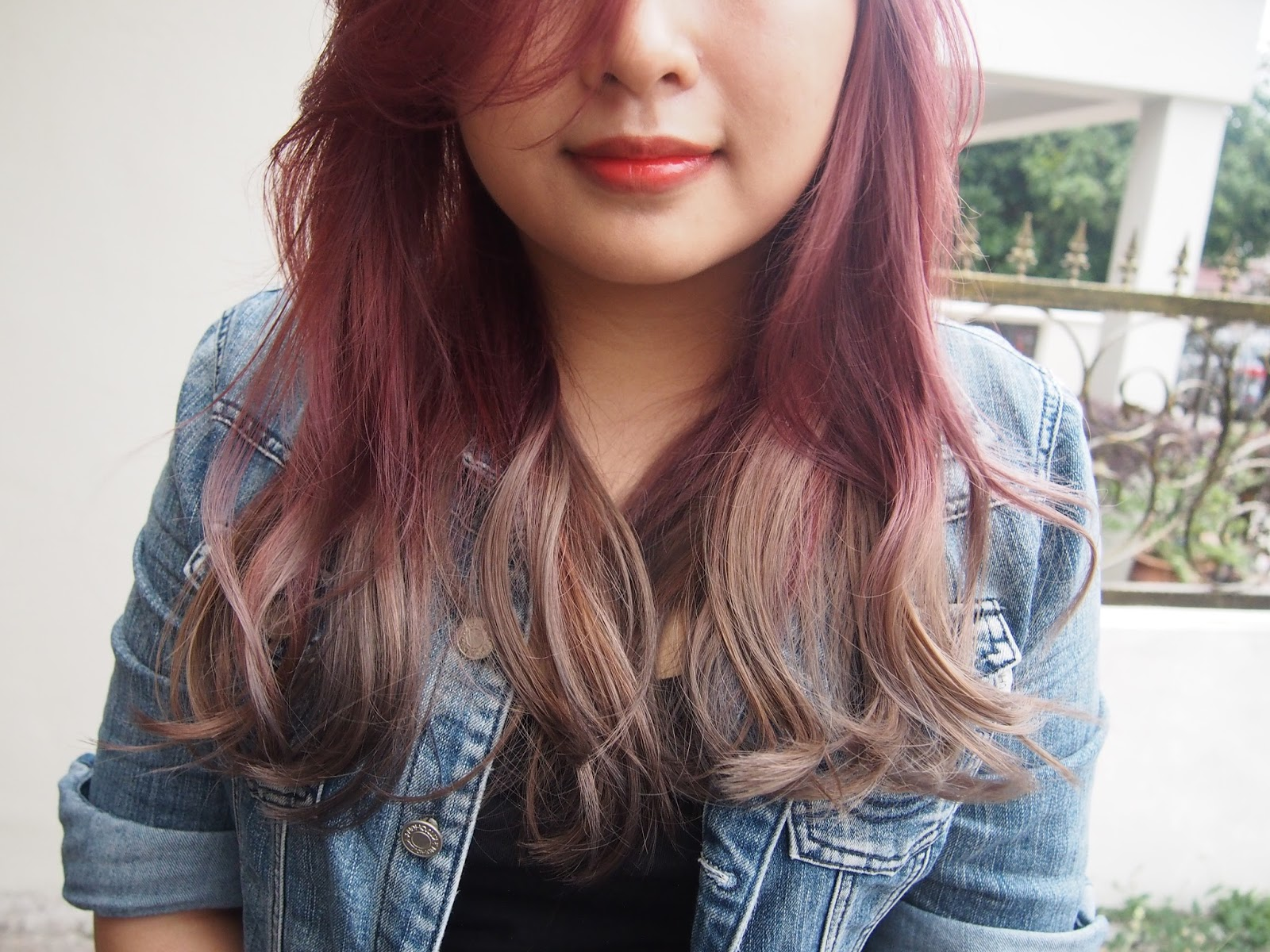 Hair: Pink Grey Ombre Hair With Number76