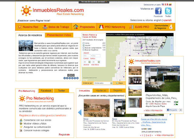portal sitio web inmuebles reales blog evento web