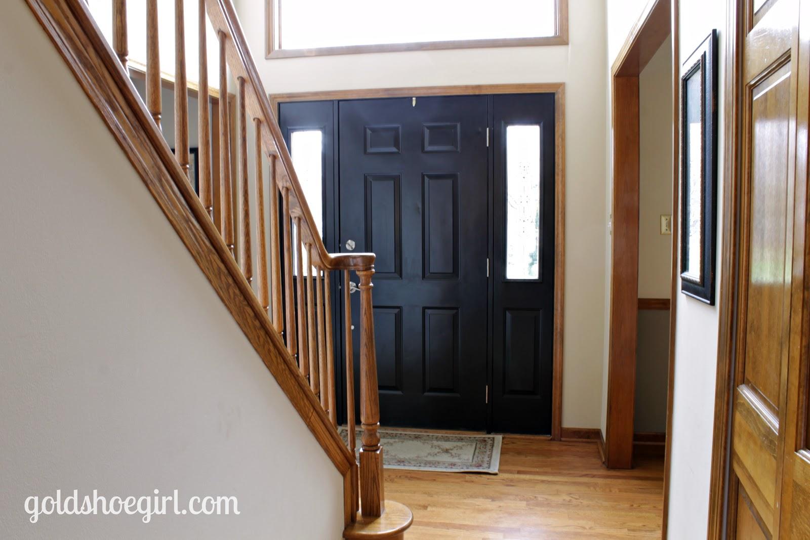 Gold Shoe Girl Front Door Before Amp After