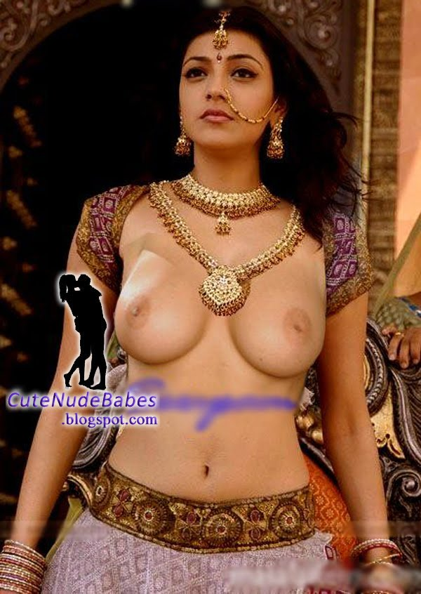 Kajal Agarwal Half Naked Enjoying Showing Her Big Sey Boobs In Open