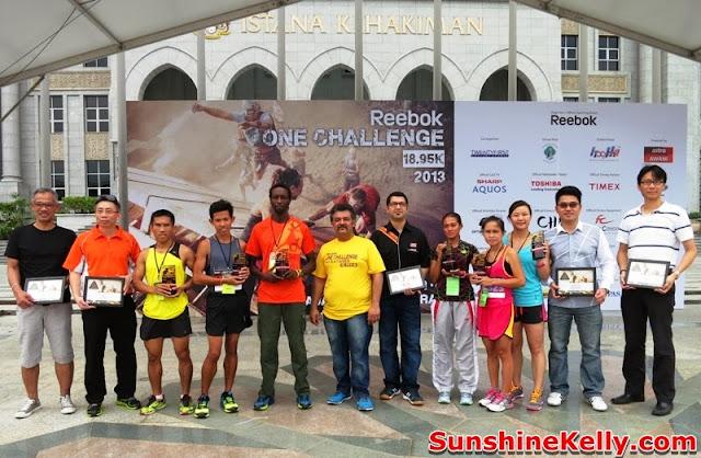 Reebok ONE Challenge 18.95k, reebok, chanllenge, putrajaya, malaysia, winners, sponsor, organizers