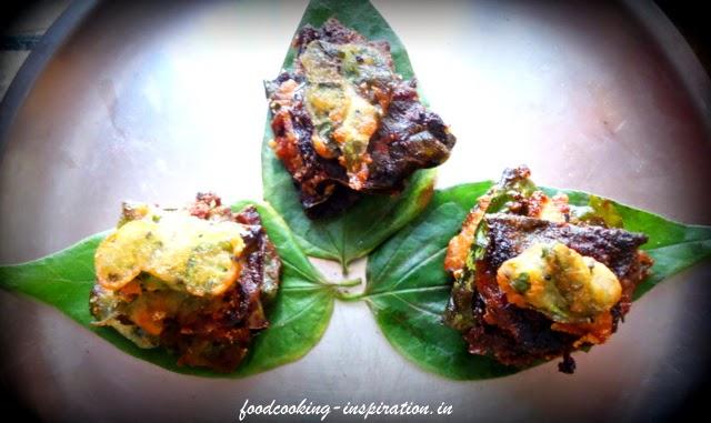 Shiuli pata or prajakta leaves fry