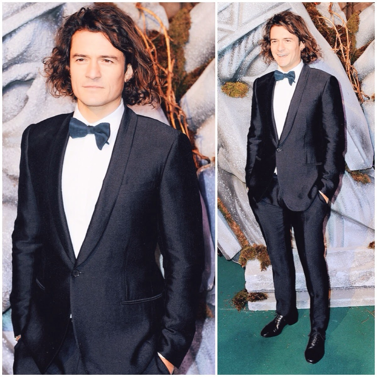 Orlando Bloom wears Lanvin Pre Spring 2015 to world premiere of The Hobbit The Battle Of The Five Armies - London 1st December 2014