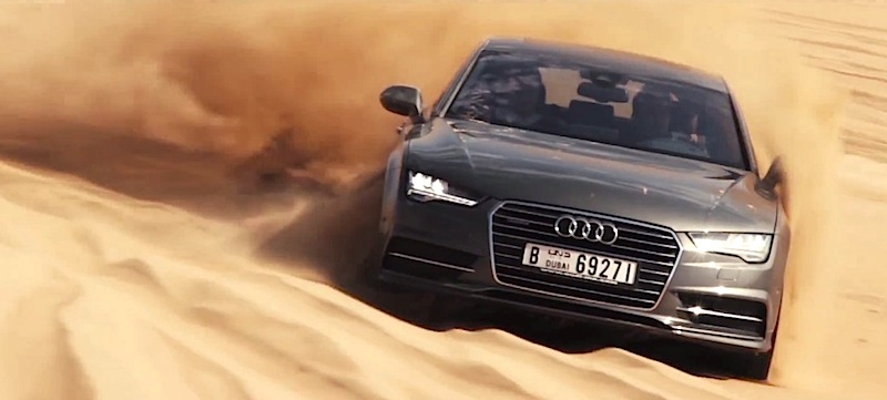 アウディA7がドバイの砂漠を走るプロモーション映像を公開