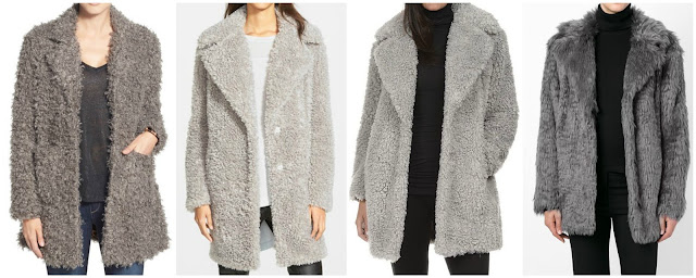 Three of these faux fur coats are under $130 and the other is from Vanessa Bruno for $505 (regular $721). Can you guess which one is the designer coat? Click the links below to see if you are correct!