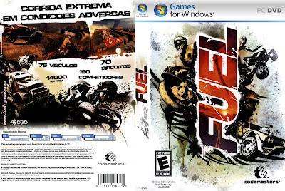 Jogo FUEL PC DVD Capa