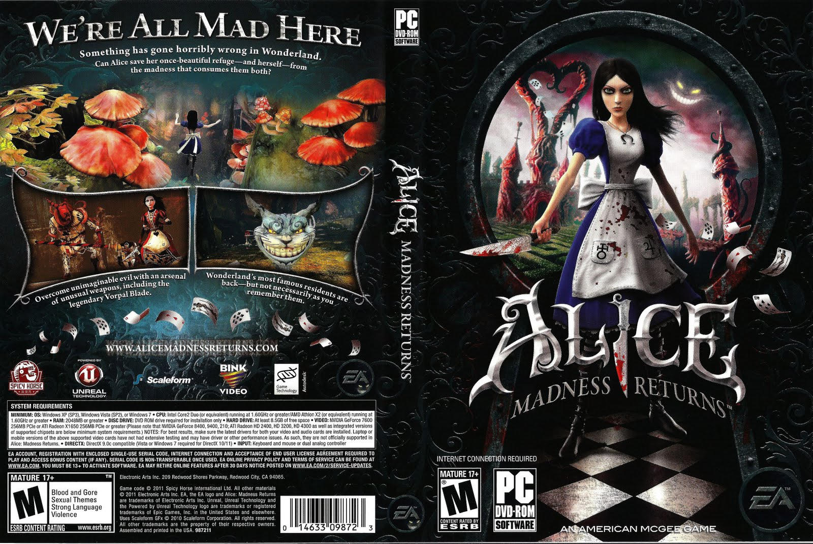 Alice madness returns nude patch ps cartoon toons