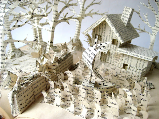 Cut-paper-sculpture
