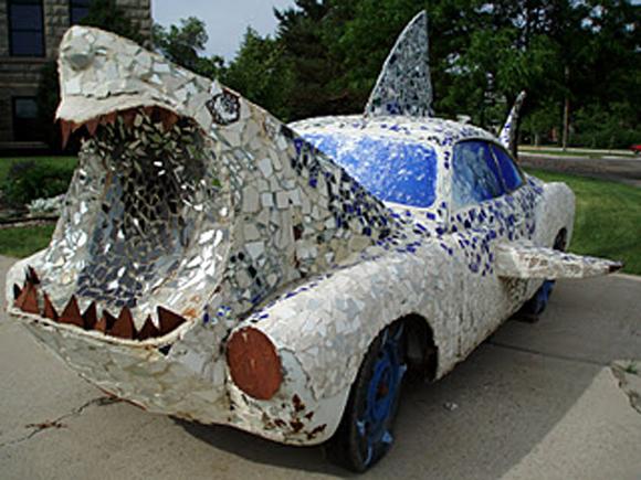 Montana Shark Art Car