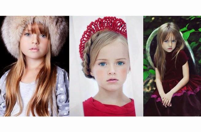 الطفلة الأجمل في عالم الأزياء