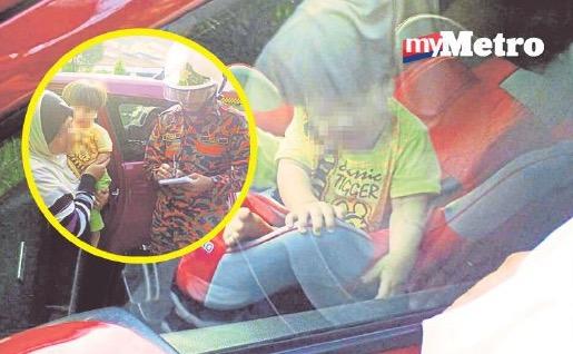 Detik cemas anak terperangkap dalam kereta