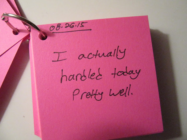 How to make a phrase a day mini journal from Young Yankee Lady
