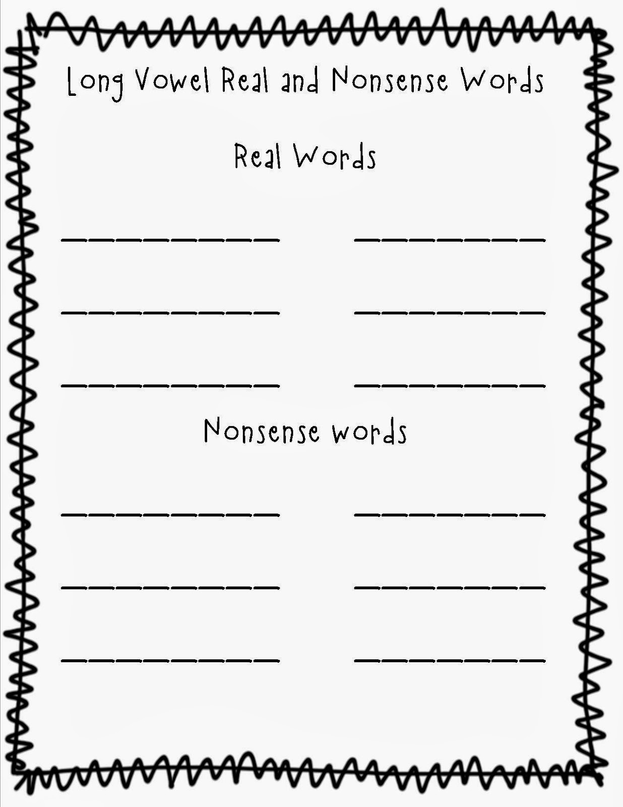 Long vowel coloring sheet - I Have Also Made Linking Cards I Cut These And Laminate Them Then Hole Punch Both Sides Of The Cards I Then Use The Plastic Links To Have The Students