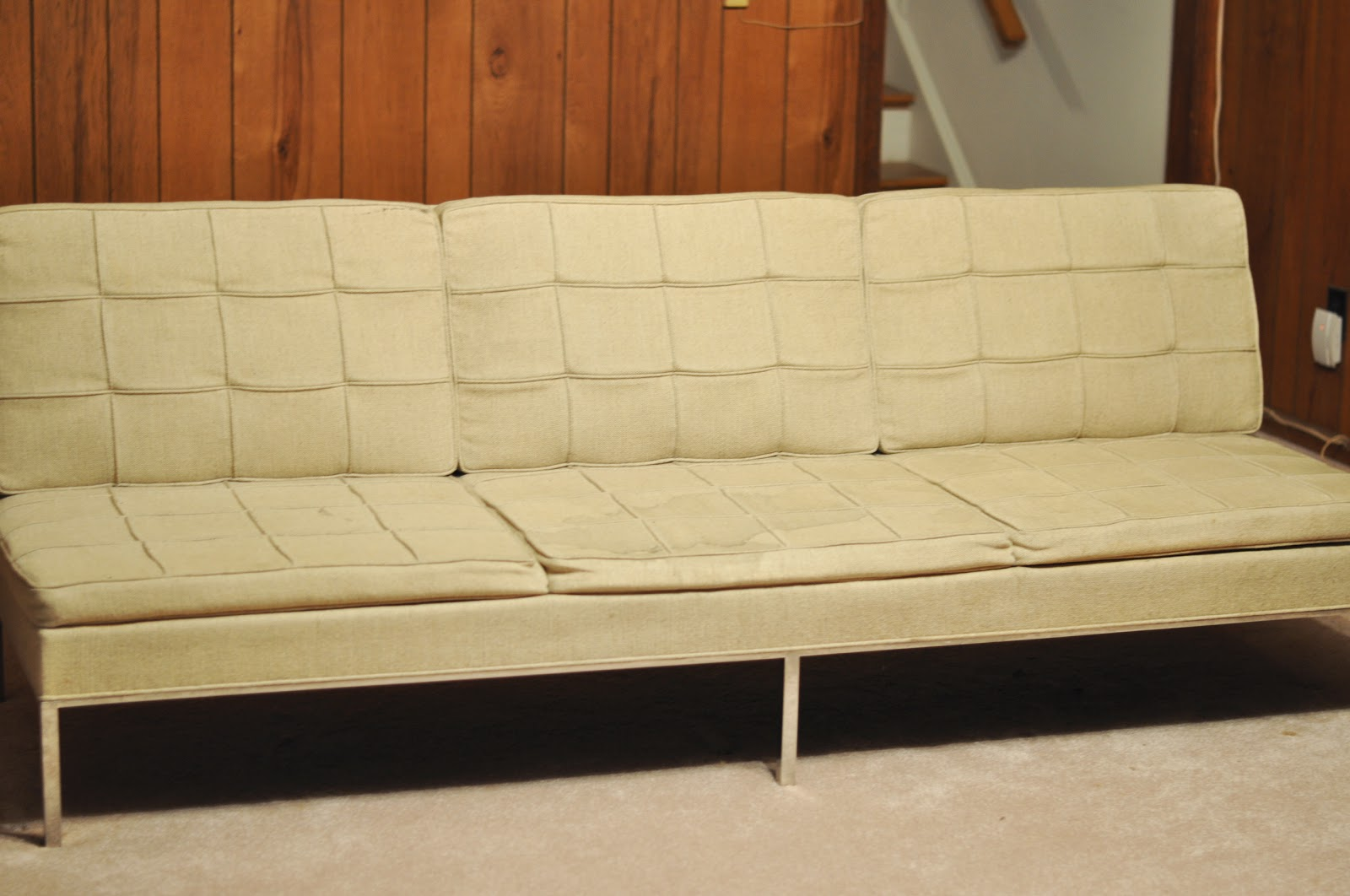 vintage knoll sofa vintage florence knoll parallel bar. Black Bedroom Furniture Sets. Home Design Ideas