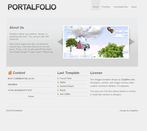 Portalfolio Blogger Theme