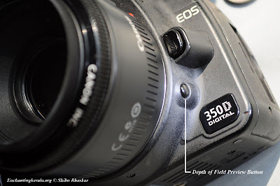 Depth of field preview button