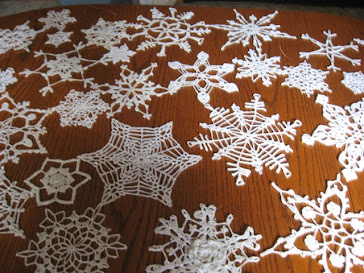click on this picture and you will find where I get most of my free patterns for these snowflakes.
