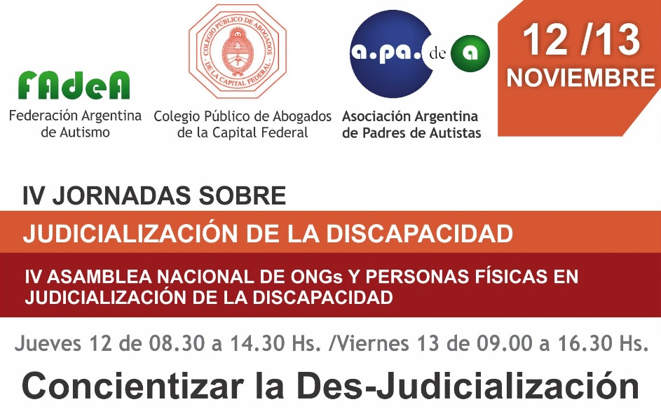 IV Jornadas de Judicialización de la Discapacidad