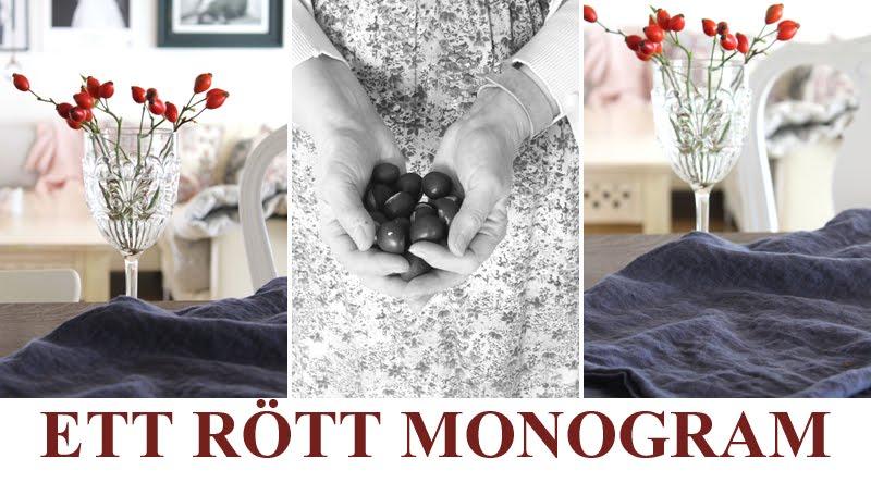 ETT RÖTT MONOGRAM