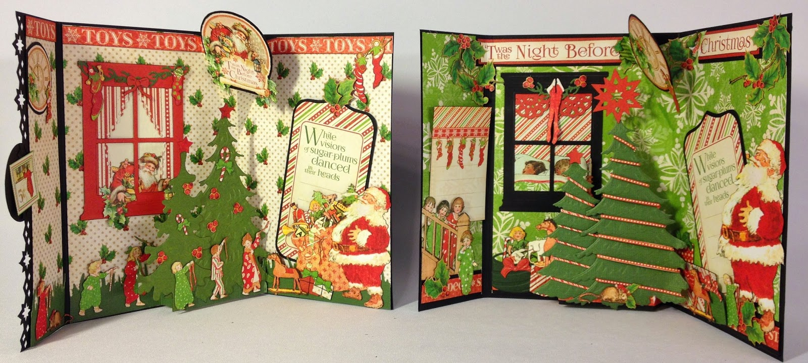 graphic 45 twas the night before christmas envelope 3d cards annes papercreations bloglovin - Twas The Night Before Christmas Decorating Ideas