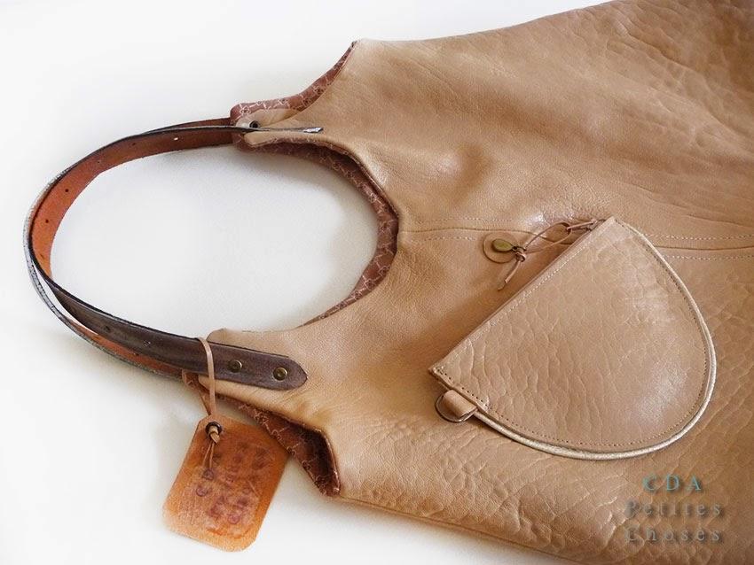 grand sac cabas cuir souple