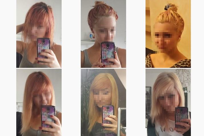 Haare entfarben