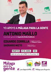 """Acto de """"Málaga para la Gente"""" con Antonio Maillo"""