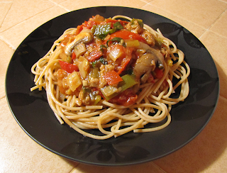 Plate of Pasta and Sauce