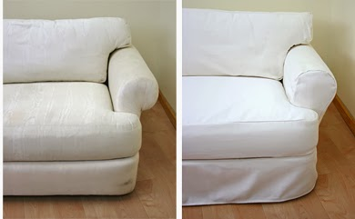 slipcovers before and after