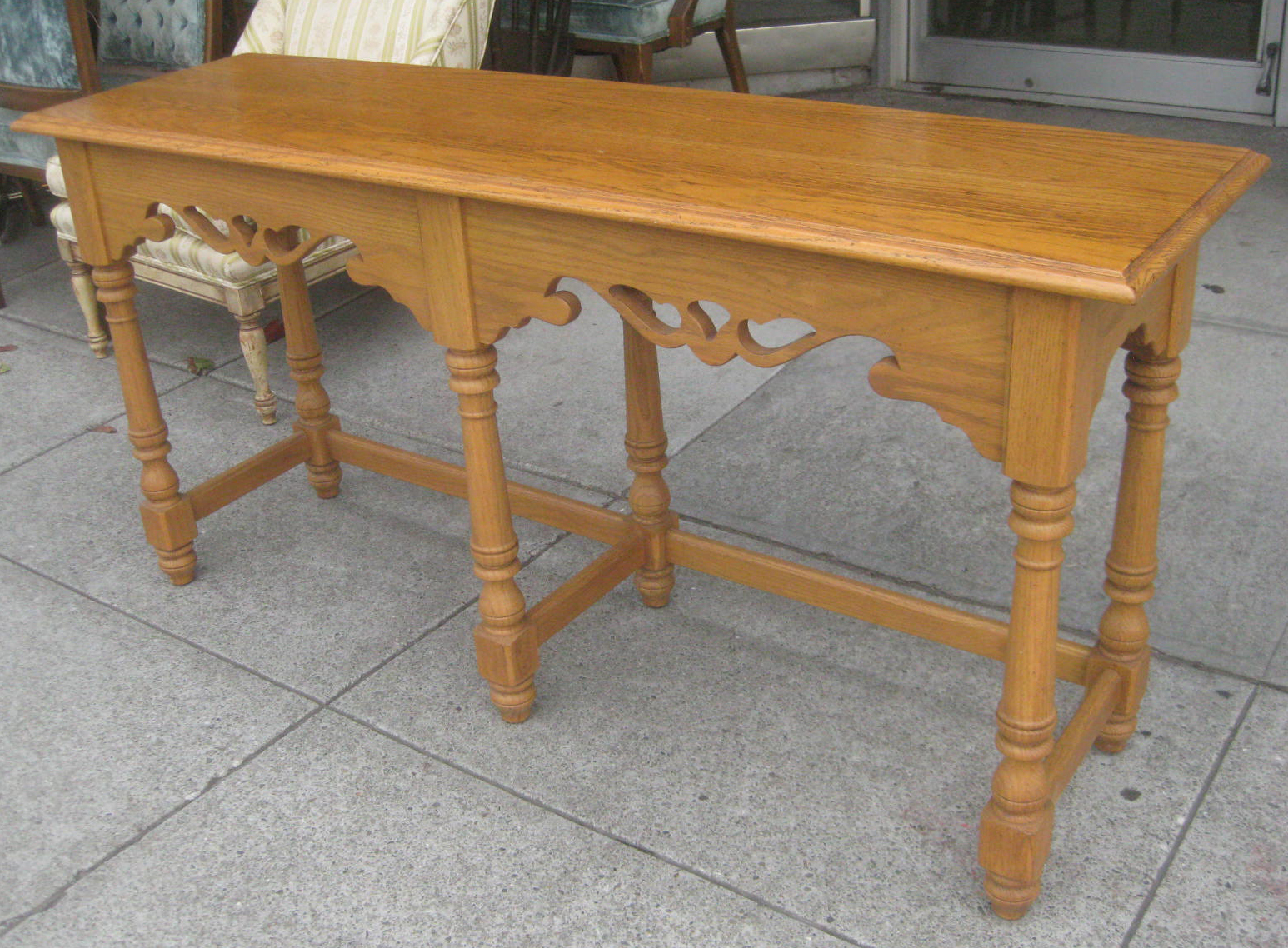 Uhuru furniture collectibles sold oak console table 70 for Sofa table 70