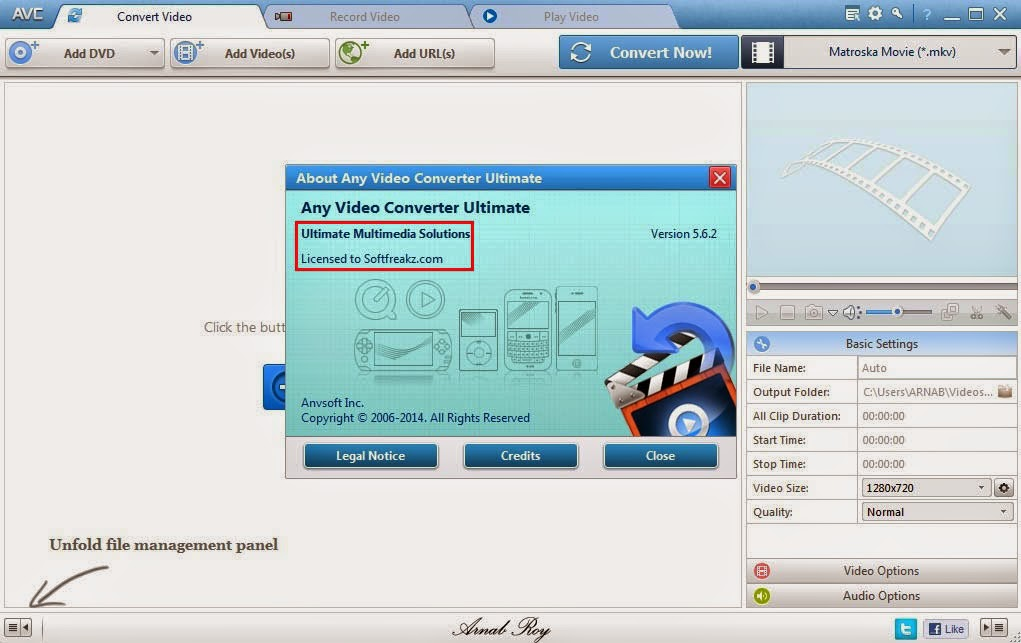 Any Video Converter Ultimate 5.6.2 Screen 2