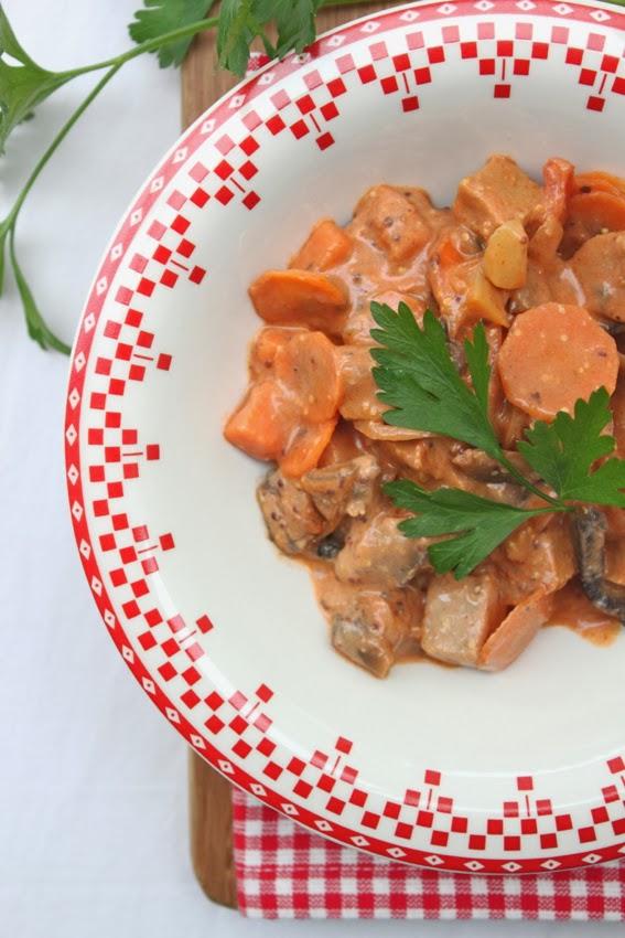Petits repas entre amis seitan fa on stroganov for Petits repas entre amis
