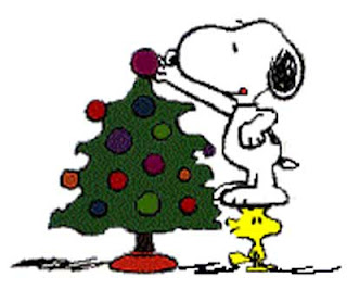 Christmas tree decorating by snoopy clip art image
