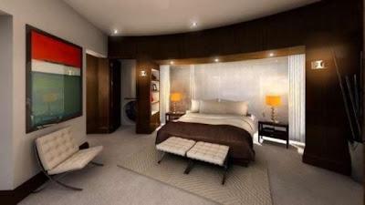 dormitorio casa subterránea moderna